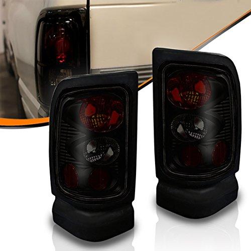 AUTOSAVER88 Tail Lights For Dodge Ram 1500 1994-2001 Dodge Ram 2500 1994-2002 Dodge Ram 3500 1994-2002 (Black & Smoke Euro Style Lamp)