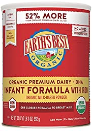 Earth\'s Best Organic Infant Formula with Iron, 35 Ounce