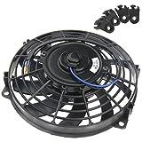 9 Inch 12V Radiator Fan 80W For Universal Car Cooling Cooler Fan w/Mounting Kit