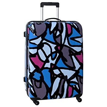 Image of Ed Heck Luggage Scribbles 28 Inch Hardside Spinner, Blue, One Size Luggage