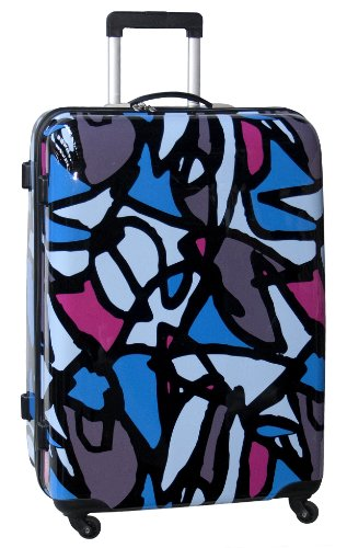 ed-heck-luggage-scribbles-28-inch-hardside-spinner-blue-one-size