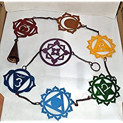 7 Chakra With 7 color Iron Hanging For Wall Decor/ Yoga Singing Bowl Hanging