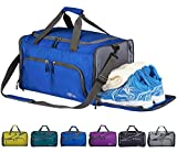FANCYOUT Foldable Sports Gym Bag with Shoes Compartment & Wet Pocket, Lightweight Travel Duffel Bag