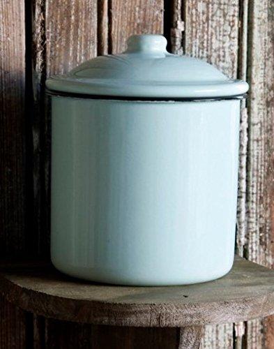 Magnolia Farms Kitchen Antique Style Enamelware Tin (Enamelware Canister)