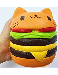 Jumbo Slow Rising squishies Kawaii Cat Hamburger Cream Scented Stress Relief large Kawaii Squishy as Collection Gift Toy BOBEBE Online Baby Store From New York to Miami and Los Angeles
