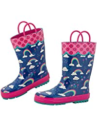 Girls All Over Print Rain Boots