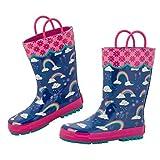 Stephen Joseph Girls' Little Rainboots, Rainbow, 13