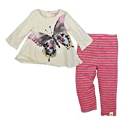 Burt's Bees Baby Baby Girls' Top and Pant Set, Tunic and Legging Bundle, 100% Organic Cotton