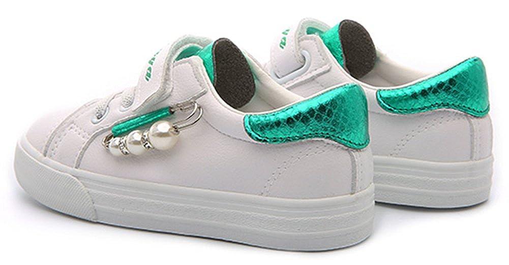 SFNLD InStar Girls Sweet Low Cut Hook and Loop Strap Sneakers Shoes