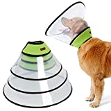 Dog Cone for Extra Large Dogs, Adjustable Padded Dog Cone Collar with Velcro and Soft Edge, Plastic Recovery Cone for Dogs Suitable for Extra Large Breeds