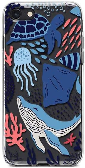 Kaidan Underwater iPhone 12 Mini Case X XR XS Max Sea Ocean 6 6s 11 Pro SE 2020 8 7 Plus Samsung Galaxy S21 S20 Fe Blue Whale Note 20 Ultra 10 9 Turtle S10 S9 S8 Jellyfish Google Pixel 3 5 Fish SaO237