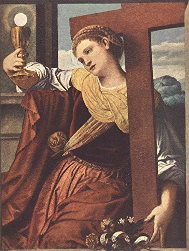 Moretto da Brescia Allegory of Faith 100% Hand Painted Oil Paintings Reproductions 12X16 Inch by B-Arts