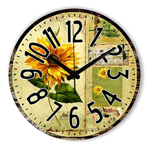 Kamas Home Decoration Large Wall Clocks Silent Wall Clock Vintage Home Decor Fashion Big Flowers Wall Watches relojes decoracion pared - (Color: Style 23, ...