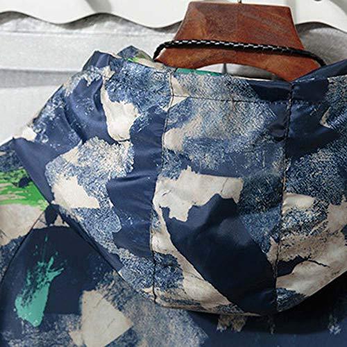 Autunno Felpe Uomo Cappuccio Tasca Blu Cappotto Giacca Sumtter Inverno Cerniera Camuffare 56qwYR7