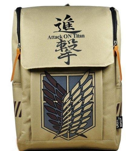 Anime Messenger Bag - Large Capacity Attack on Titan Backpack Canvas Rucksack Anime Book Bag Laptop Bag