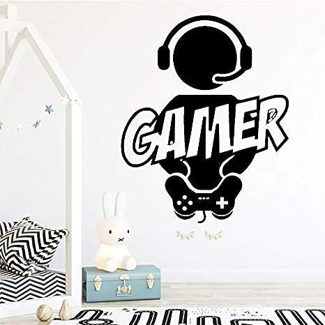 Tallado Gamer pegatinas de pared de vinilo Mural Wallpaper ...