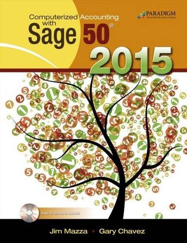 Download Computerized Accounting with Sage 50 2015: Text with CD and Student eResources pdf