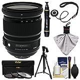 Sigma 24-105mm f/4.0 ART DG OS HSM Lens + 3 Filters + Tripod + Kit for Nikon D3200, D3300, D5300, D5500, D7100, D7200, D610, D750, D810, D4s Cameras