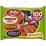 HERSHEY'S Halloween Snack Size Assortment (36.22-Ounce Bag, 100 Pieces)