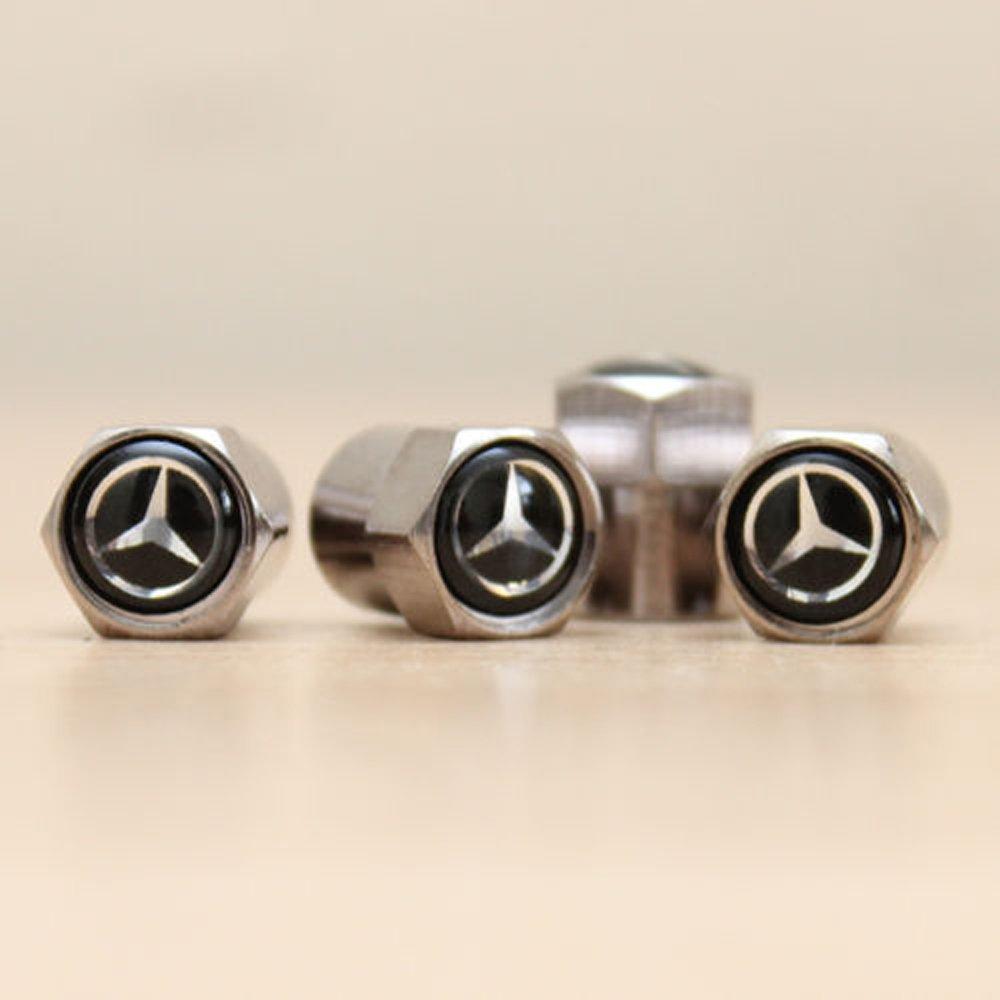 Mercedes Black Air Valve Dust Caps Car Wheel Tyre Caps 4 x pcs Uk affordable accessories