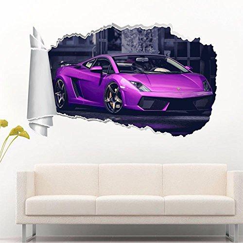 Lamborghini Gallardo 3D Torn Hole Ripped Wall Sticker Decal Art Luxury Car WT236, Huge by Dizzy (Image #1)
