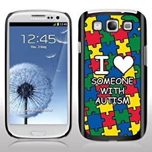 "Autism Awareness For SamSung Galaxy S3 Case Cover Black Phone Designs ""I love someone with autism"