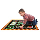 Melissa & Doug Round The City Rescue Rug With 4