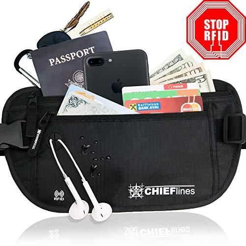 Money Belt RFID Blocking Undercover Hidden Waist Stash For Men & Women Travelling/Travel. Running Belt, Fanny and Waist Pack
