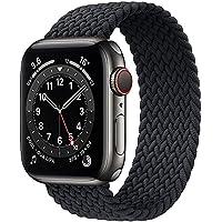 حزام نسج نايلون حزام ساعة أبلSolo Loop Bands Compatible with Apple Watch Band 38mm 40mm 42mm 44mm, Stretchy Silicone…