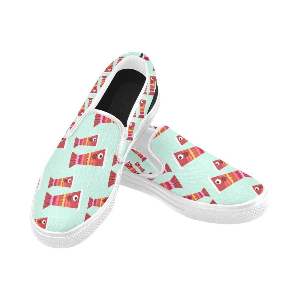 Canvas Shoes Womens Carp Patternjapan Childrens Daykoinoborikodomo No Hi Canvas Slip-on Casual Printing Comfortable Low Top Non Slip Shoes Boys