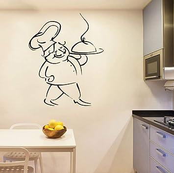 Pegatinas de pared de vinilo casero francés cocina du chef art ...