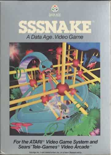Sssnake Atari 2600 Game Cartridge