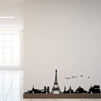 Amazoncom Paris Wall Decals Eiffel Tower Wall Decor Black And
