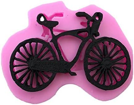 JUNGEN® Molde de Silicona para Pastel Forma de Bicicleta moldes ...