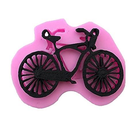 JUNGEN Molde de silicona para pastel Forma de Bicicleta moldes para hornear Decoracion Tartas Pasteles DIY jabón moldes: Amazon.es: Hogar