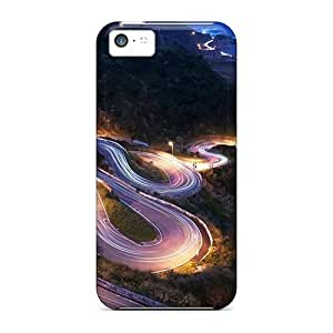 High Impact Dirt/shock Proof Case Cover For ipod touch5 (lighted Road To The Coast)