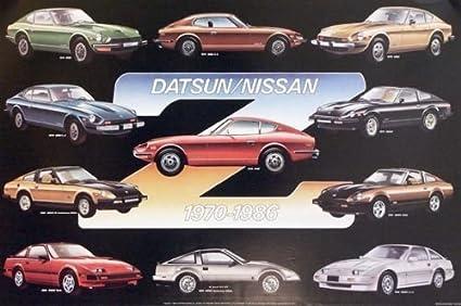 Amazon Com Datsun Z Nissan Z Evolution History Car Poster