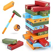 Jenga Game Plastic Blocks Stacking Toy for Kids,Tumbling Tower Children Educational Toy