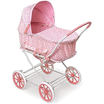 Amazon Com Badger Basket Pink Rosebud 3 In 1 Doll Pram