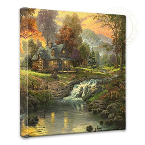Thomas Kinkade Mountain Retreat - nature wall art