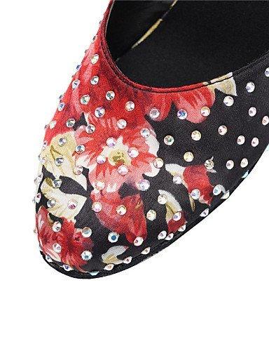 ShangYi Chaussures de danse ( Multicolore ) - Personnalisables - Talon Personnalisé - Satin - Latine / Salsa / Samba , multi color-us6 / eu36 / uk4 / cn36 , multi color-us6 / eu36 / uk4 / cn36