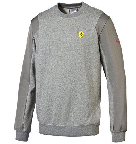 Puma Ferrari Grey SF Crew Neck Sweatshirt - Grey - Ferrari Grey