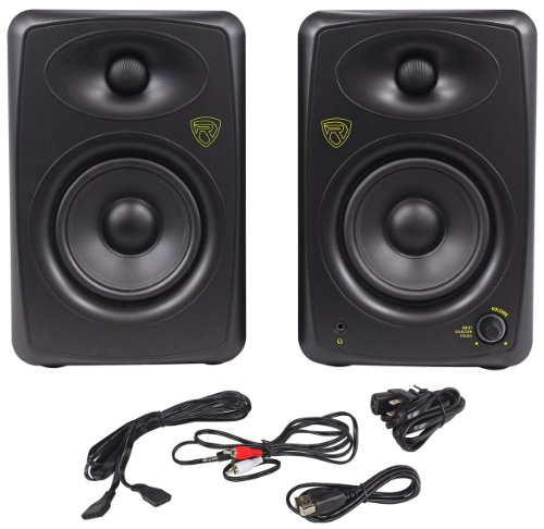 "Rockville ASM5 5"" 2-Way 200W Active/Powered USB Studio Monit"