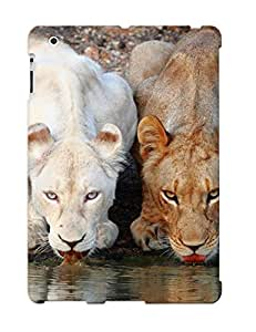 MOORsMe3475XRASz Hot Fashion Design Case Cover For Ipad 2/3/4 Protective Case (lionesses Drinking From The River )