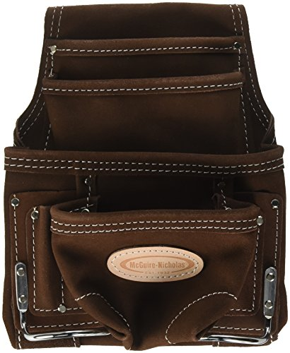 Nail Pouch - McGuire-Nicholas 688 Nail & Tool Bag with 10 Packet, Brown