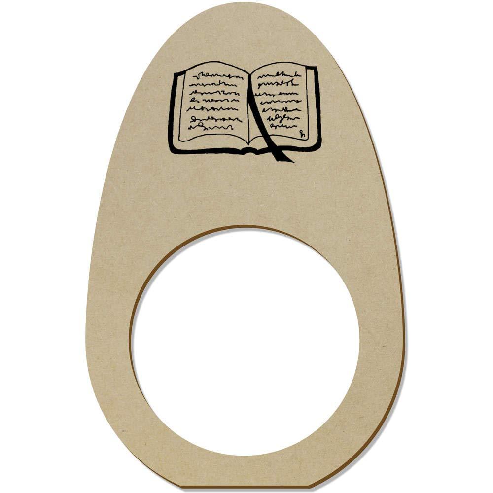 Azeeda 5 x Offenes Buch Hölzerne Serviettenringe Geschirr, Besteck & Gläser NR00036610