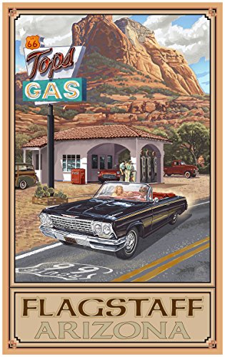 Flagstaff Arizona Route 66 Service Station Travel Art Print Poster by Paul A. Lanquist (24