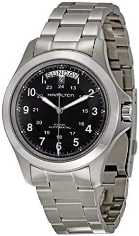 Hamilton Men's H64455133 Khaki King II Black Dial Watch (Hamilton Khaki Field Automatic)