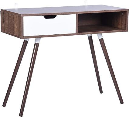 scrivania ad angolo per computer e laptop scrivania per studio scrivania moderna a forma di L stazione di lavoro Fanilife grande scrivania per casa o ufficio Oak in legno