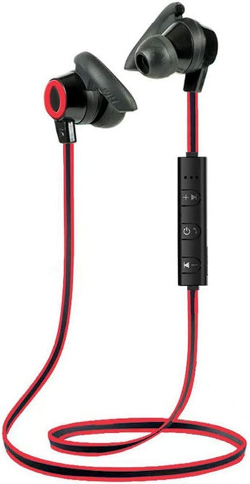 OutTop(TM) Bluetooth Headphones, Bluetooth 4.1 Wireless Earbuds, Noise Cancelling in-Ear Built-in Mic Magnetic Small Horn Stereo Sports Earphones for Running Exercise (Red)